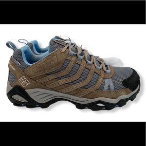 Columbia Waterproof Hiking Shoes Brown Omni Grip